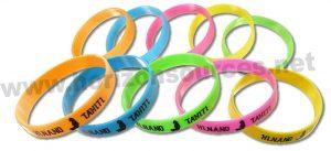 bracelets publicitaires en silicone